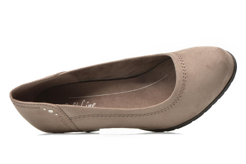 Pumps Jana shoes Jiveo 2 beige ansicht von links