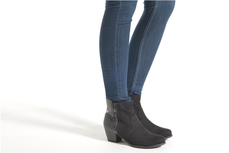 Bottines et boots Jana shoes Scille Noir vue bas / vue portée sac