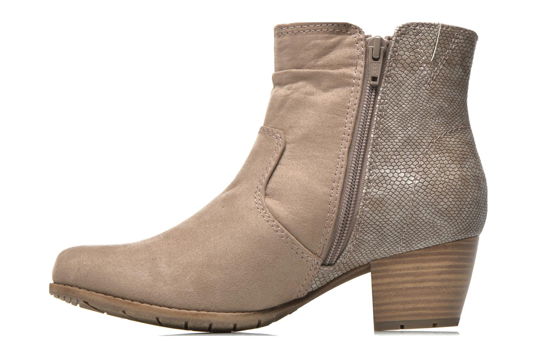 Bottines et boots Jana shoes Scille Beige vue face