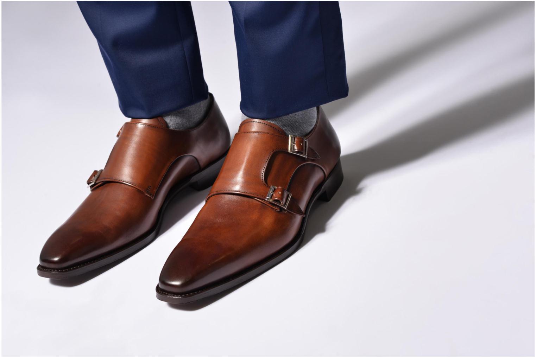 Slipper Marvin&Co Luxe Witruck braun ansicht von unten / tasche getragen