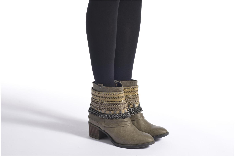 Bottines et boots Bullboxer Lipika Vert vue bas / vue portée sac