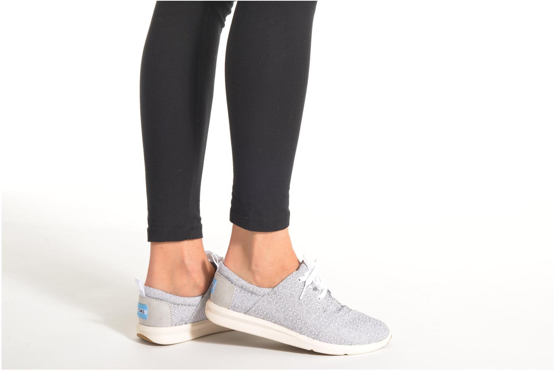 Baskets TOMS Del Rey Sneaker Gris vue bas / vue portée sac