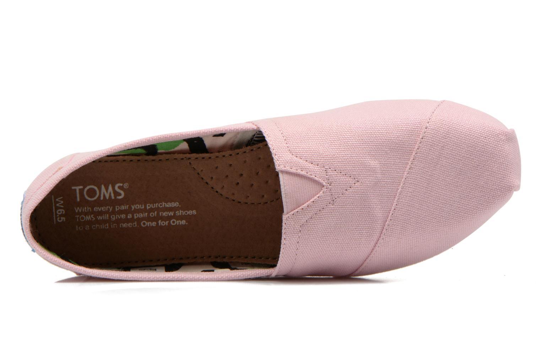 Sneaker TOMS Alpargata rosa ansicht von links