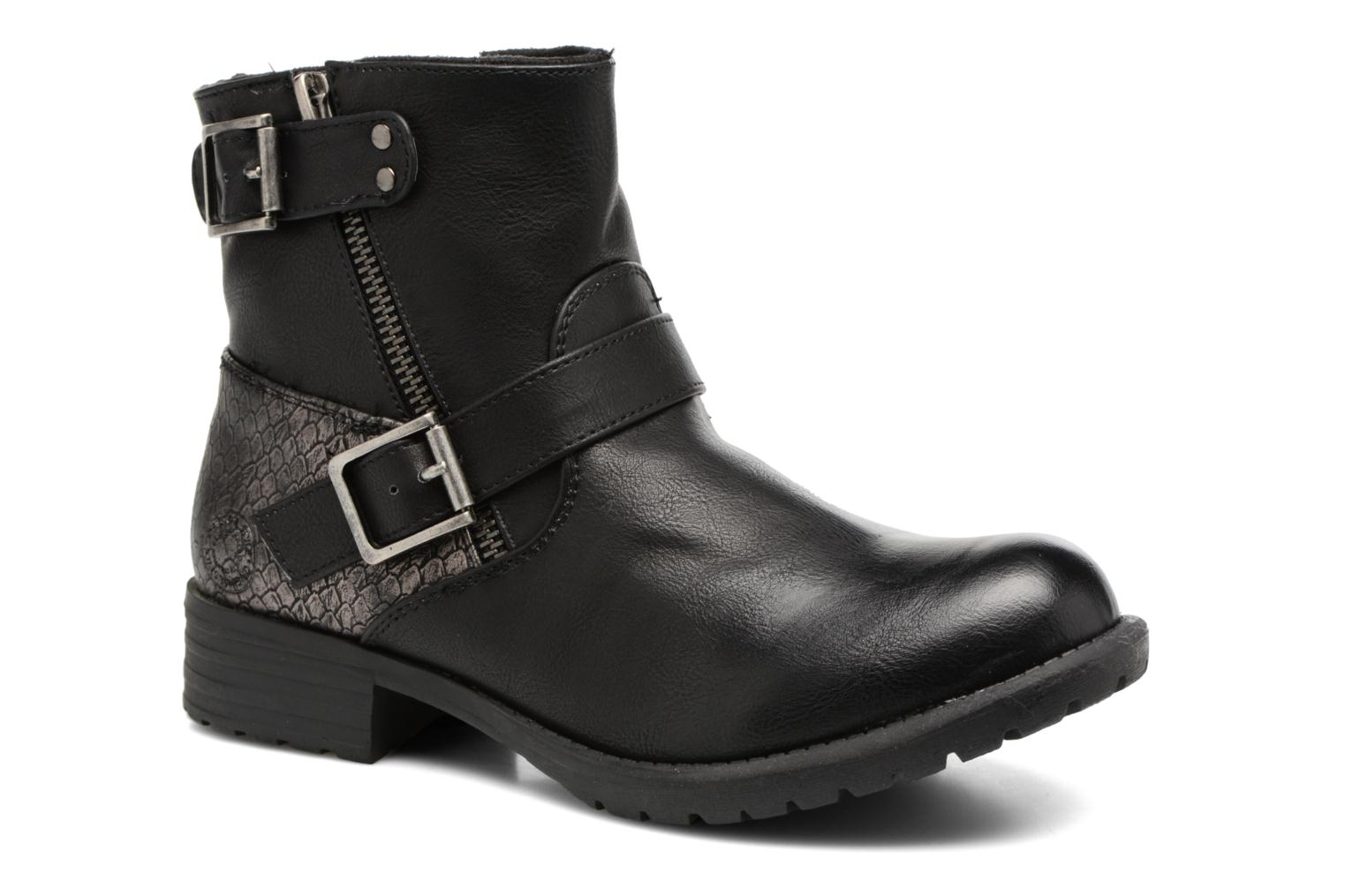 Ankle boots Bullboxer Margota Black detailed view/ Pair view