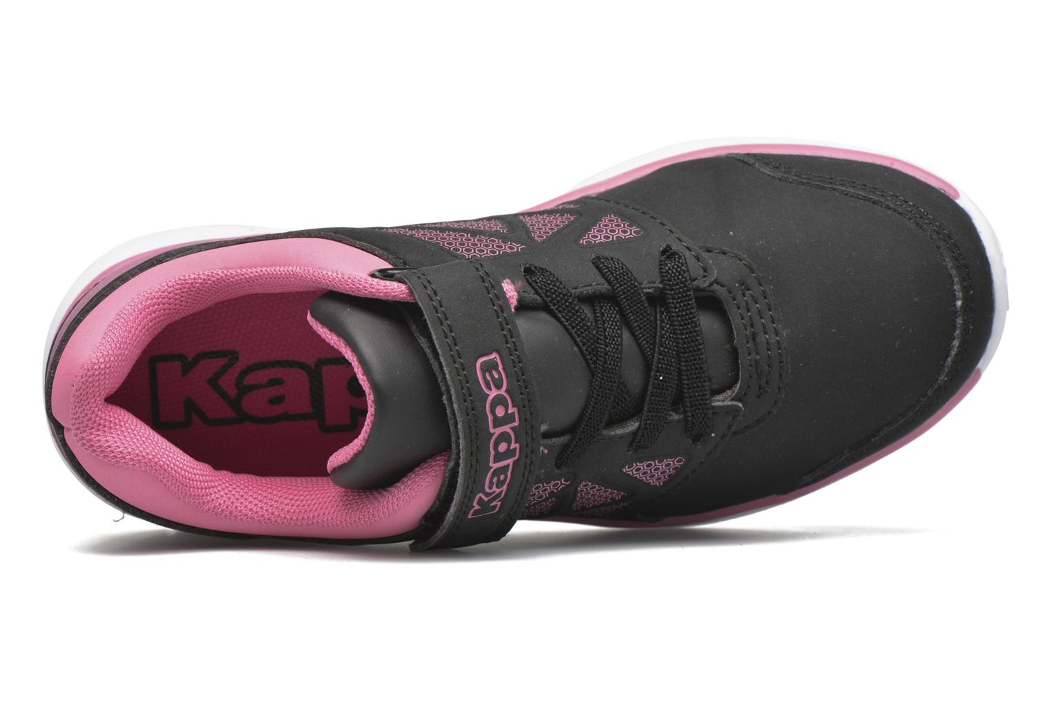 Sport shoes Kappa Fanger Kid EV PU Black view from the left