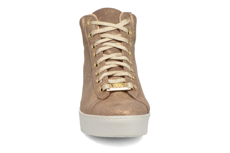 Baskets Liu Jo Sneaker Zeppa Beige vue portées chaussures