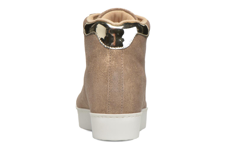 Sneaker Zeppa caffè nude metal Y