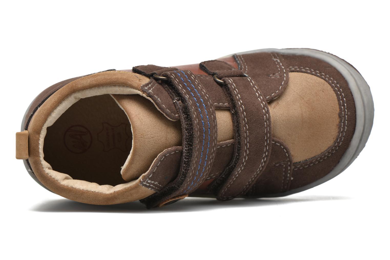 Chaussures à scratch NA! Abes Marron vue gauche