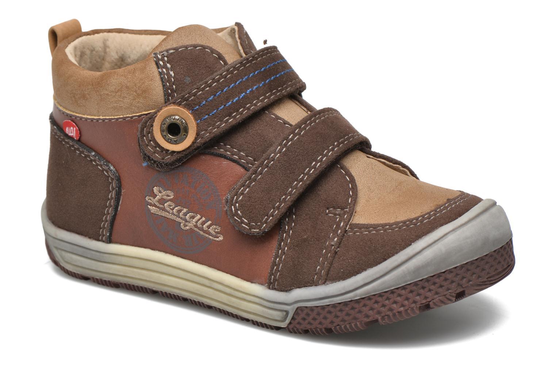 Chaussures à scratch NA! Abes Marron vue détail/paire