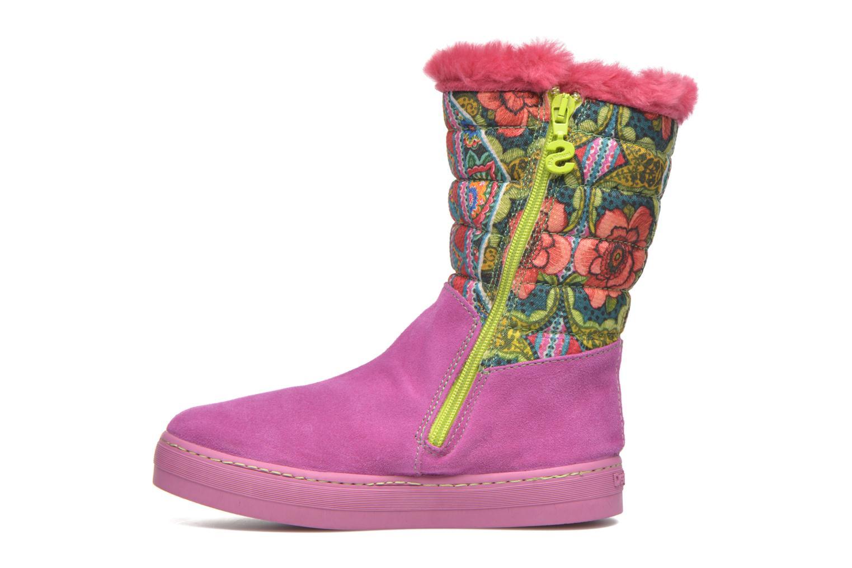 Stiefel Desigual Winter rosa ansicht von vorne
