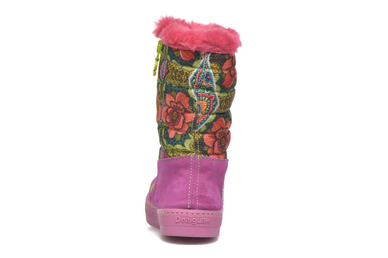 Stiefel Desigual Winter rosa ansicht von rechts