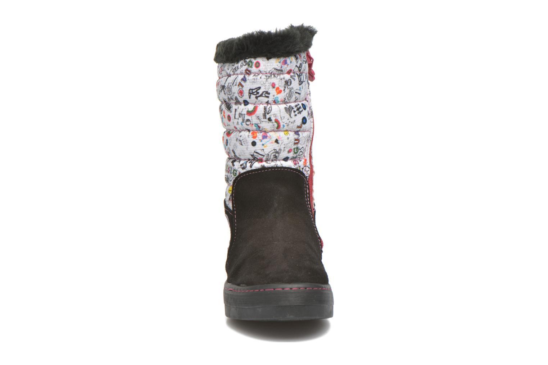 Bottes Desigual Winter Noir vue portées chaussures