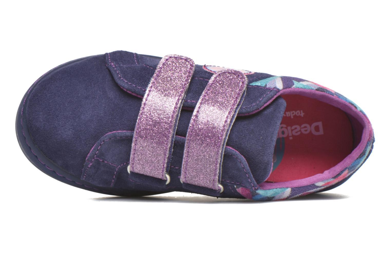 Sneaker Desigual Silver Mini lila ansicht von links