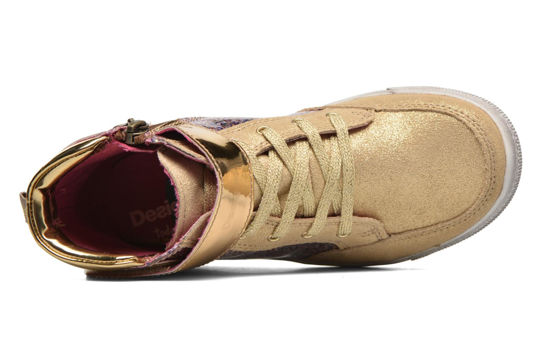 Baskets Desigual Rask Or et bronze vue gauche