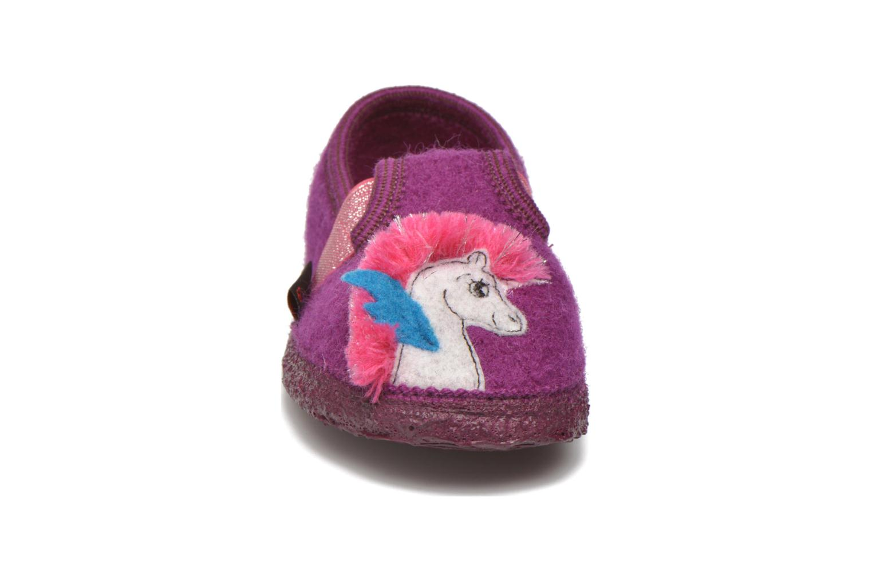 Chaussons Giesswein Trebur Violet vue portées chaussures