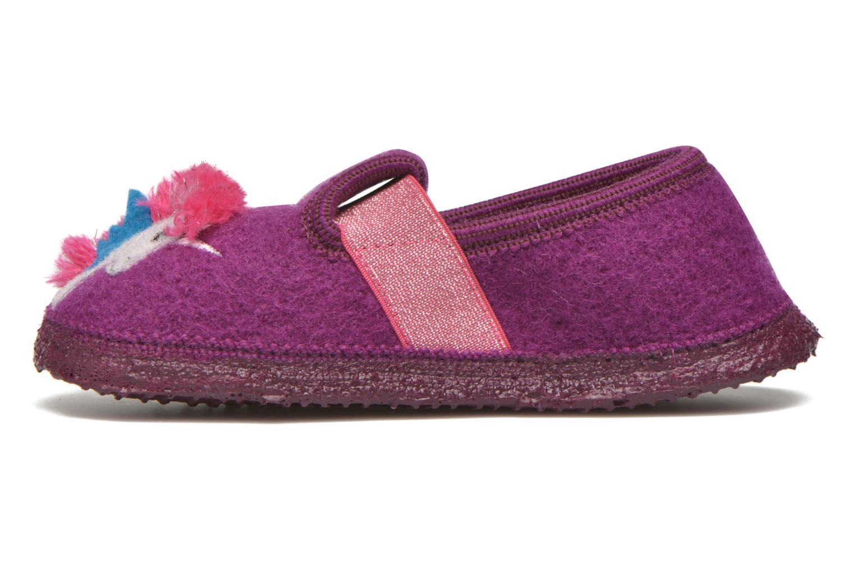 Slippers Giesswein Trebur Purple front view