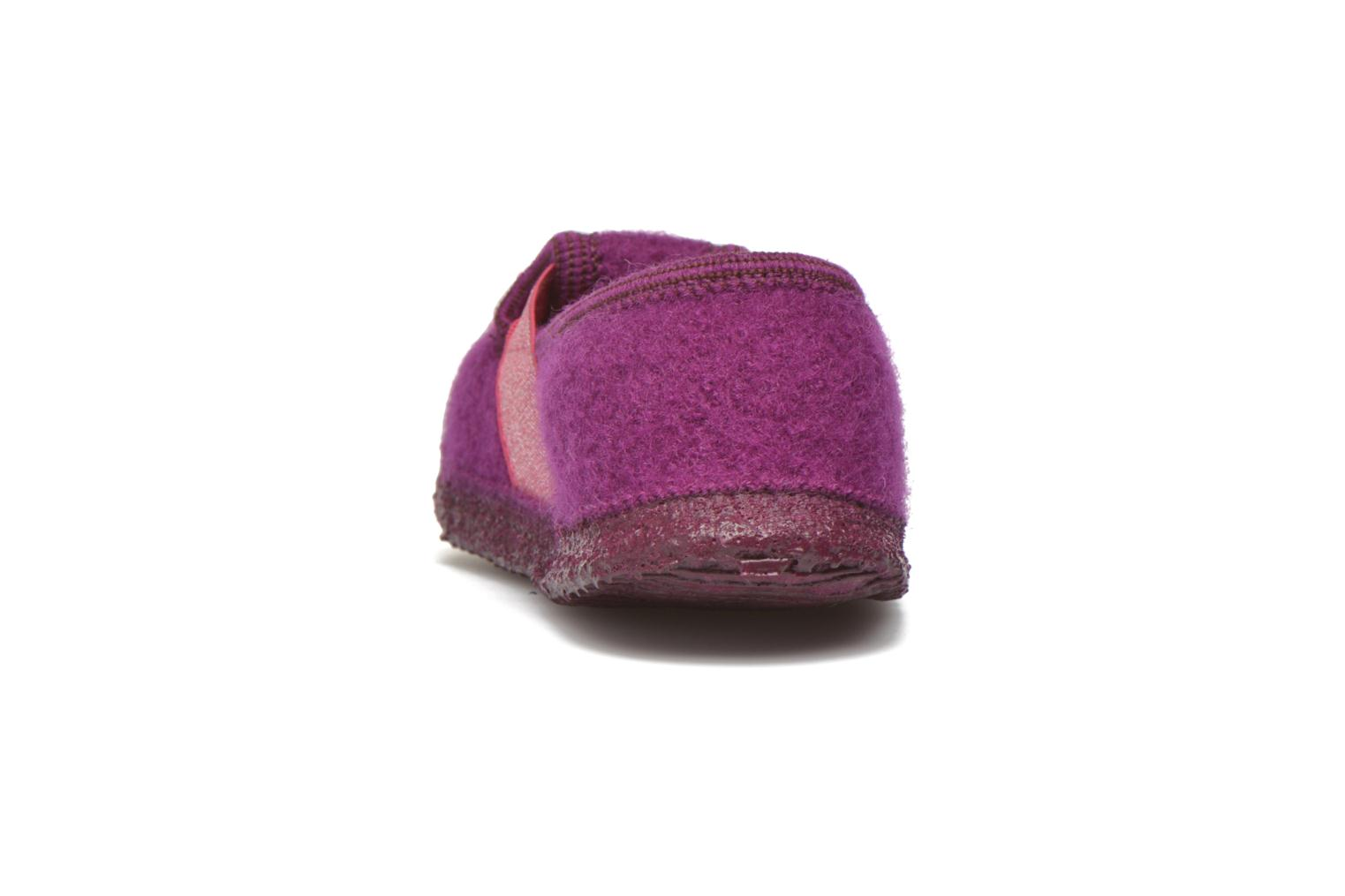 Slippers Giesswein Trebur Purple view from the right
