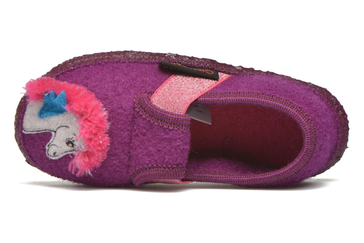 Slippers Giesswein Trebur Purple view from the left