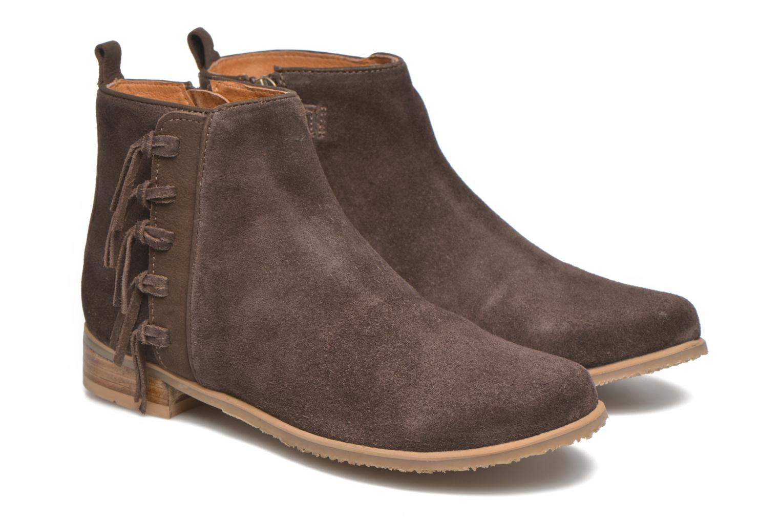 Ankle boots Shwik Odeon Fringe Brown 3/4 view