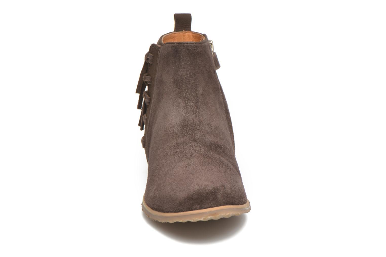 Stiefeletten & Boots Shwik Odeon Fringe braun schuhe getragen