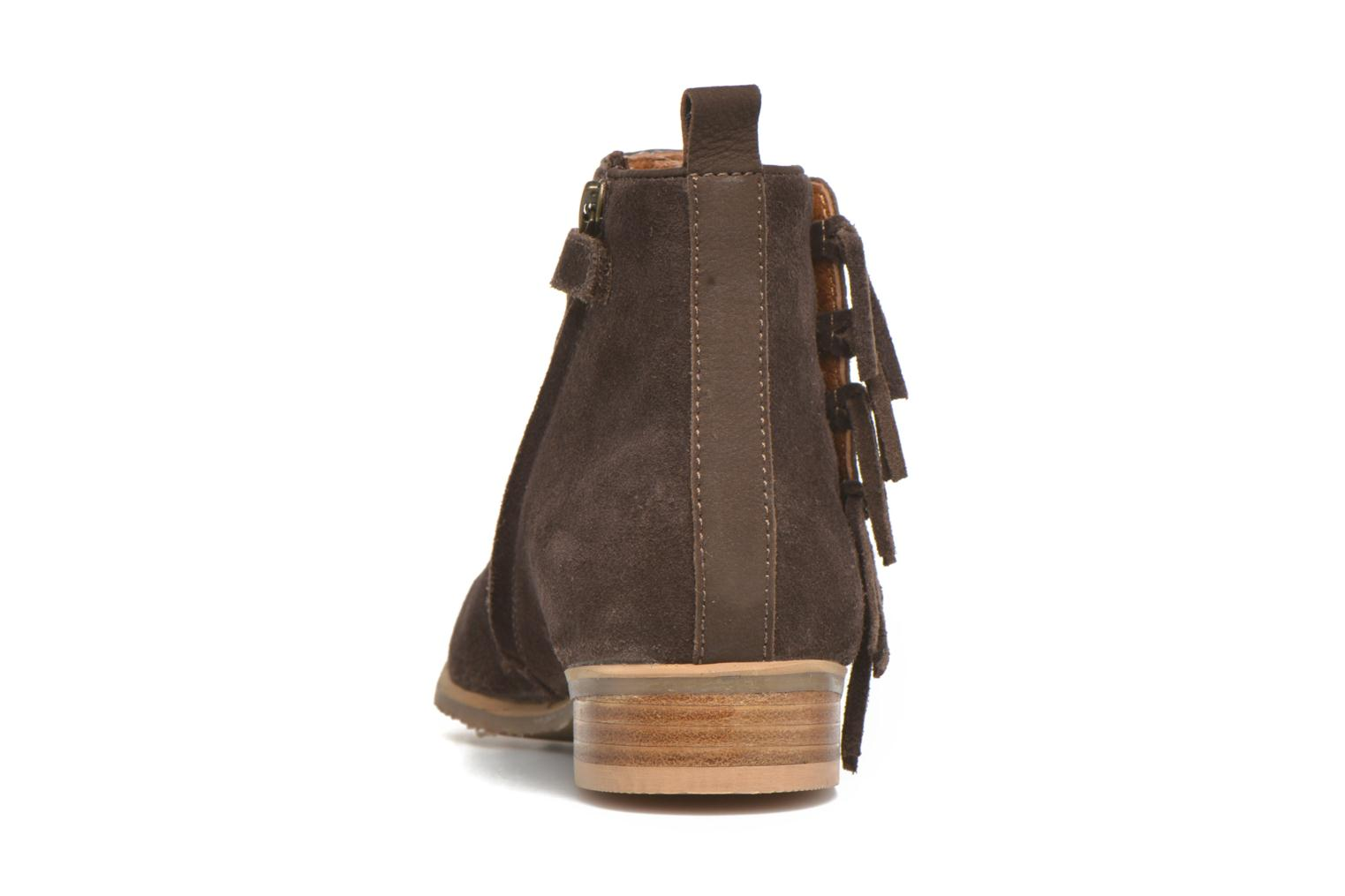 Ankle boots Shwik Odeon Fringe Brown view from the right