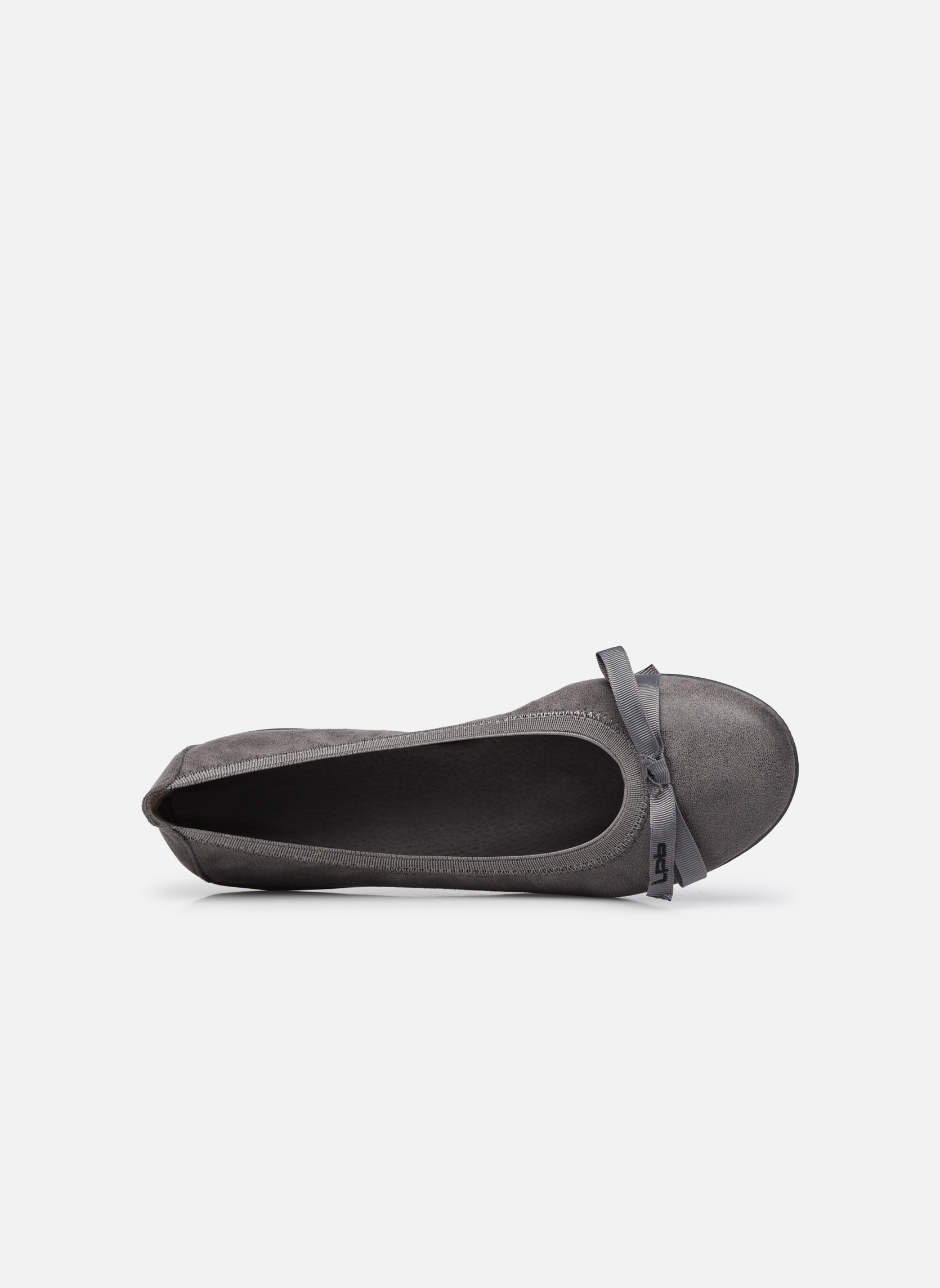 Ballet pumps Les P'tites Bombes Ella Grey view from the left