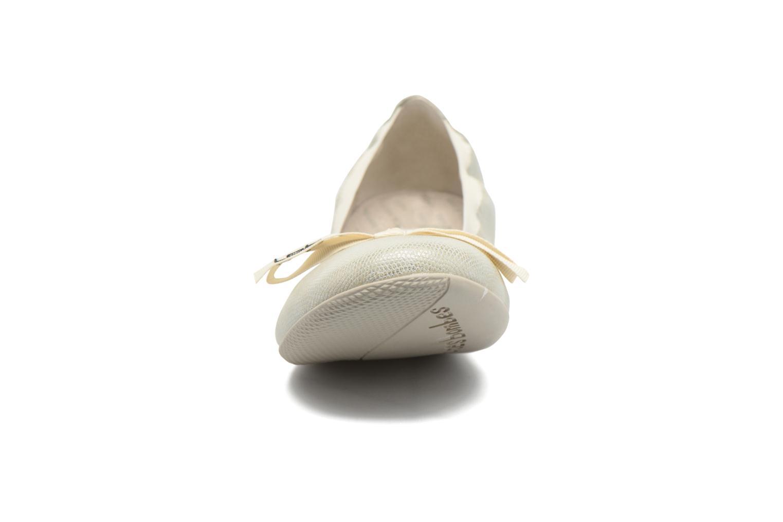 Ballerines Les P'tites Bombes Ella Beige vue portées chaussures