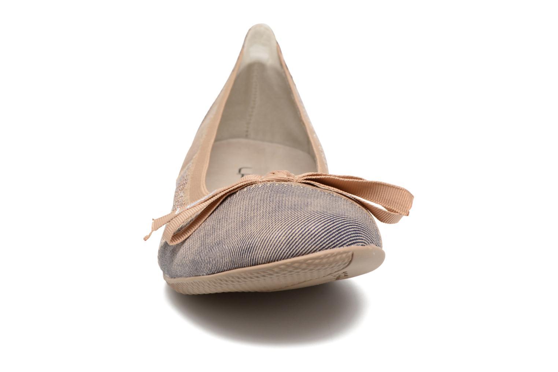 Ballerines Les P'tites Bombes Acajou Or et bronze vue portées chaussures