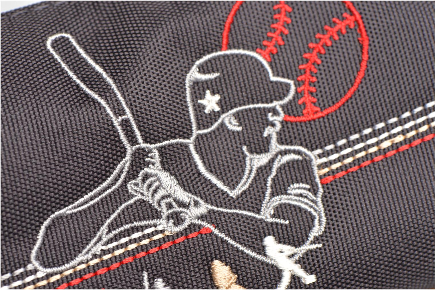 School bags Tann's Trousse double Baseball Grey view from the left