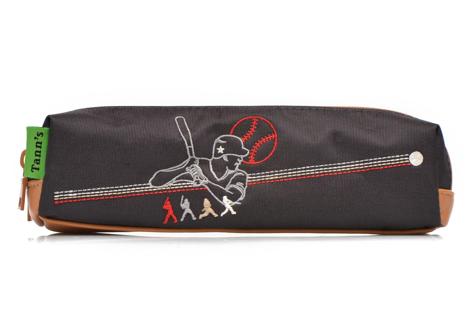 School bags Tann's Trousse double Baseball Grey detailed view/ Pair view