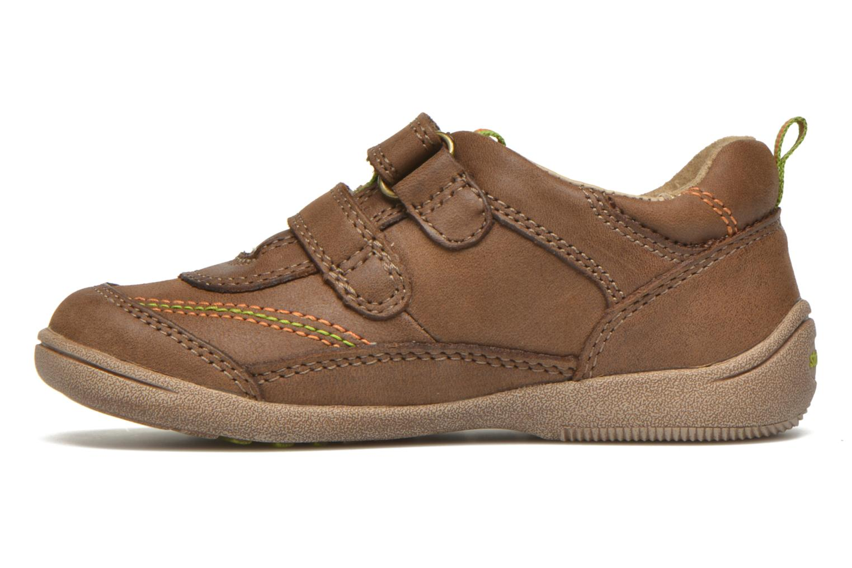 Chaussures à scratch Start Rite Leo Marron vue face