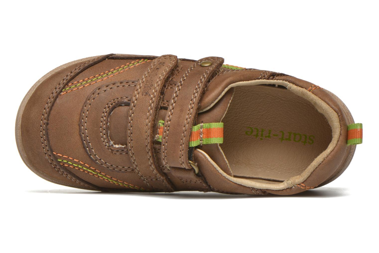 Chaussures à scratch Start Rite Leo Marron vue gauche