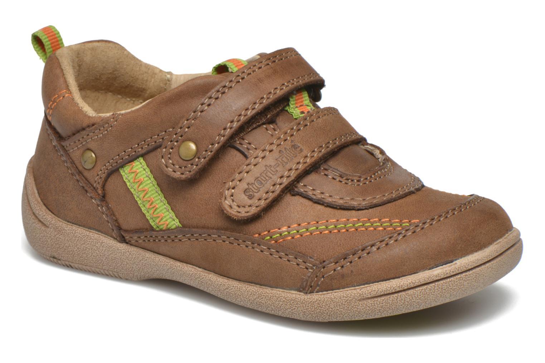 Chaussures à scratch Start Rite Leo Marron vue détail/paire