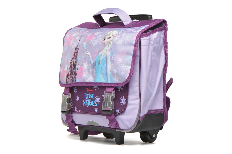 Scolaire Disney Cartable 38cm Trolley Reine des neiges Violet vue portées chaussures