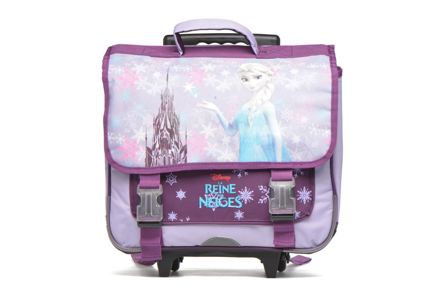 Cartable 38cm Trolley Reine des neiges Parme