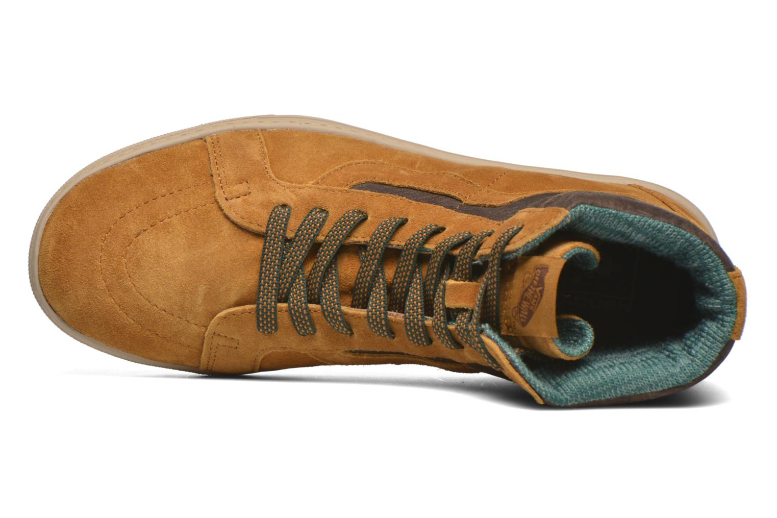 Trainers Vans Sk8-Hi MTE CUP Brown view from the left