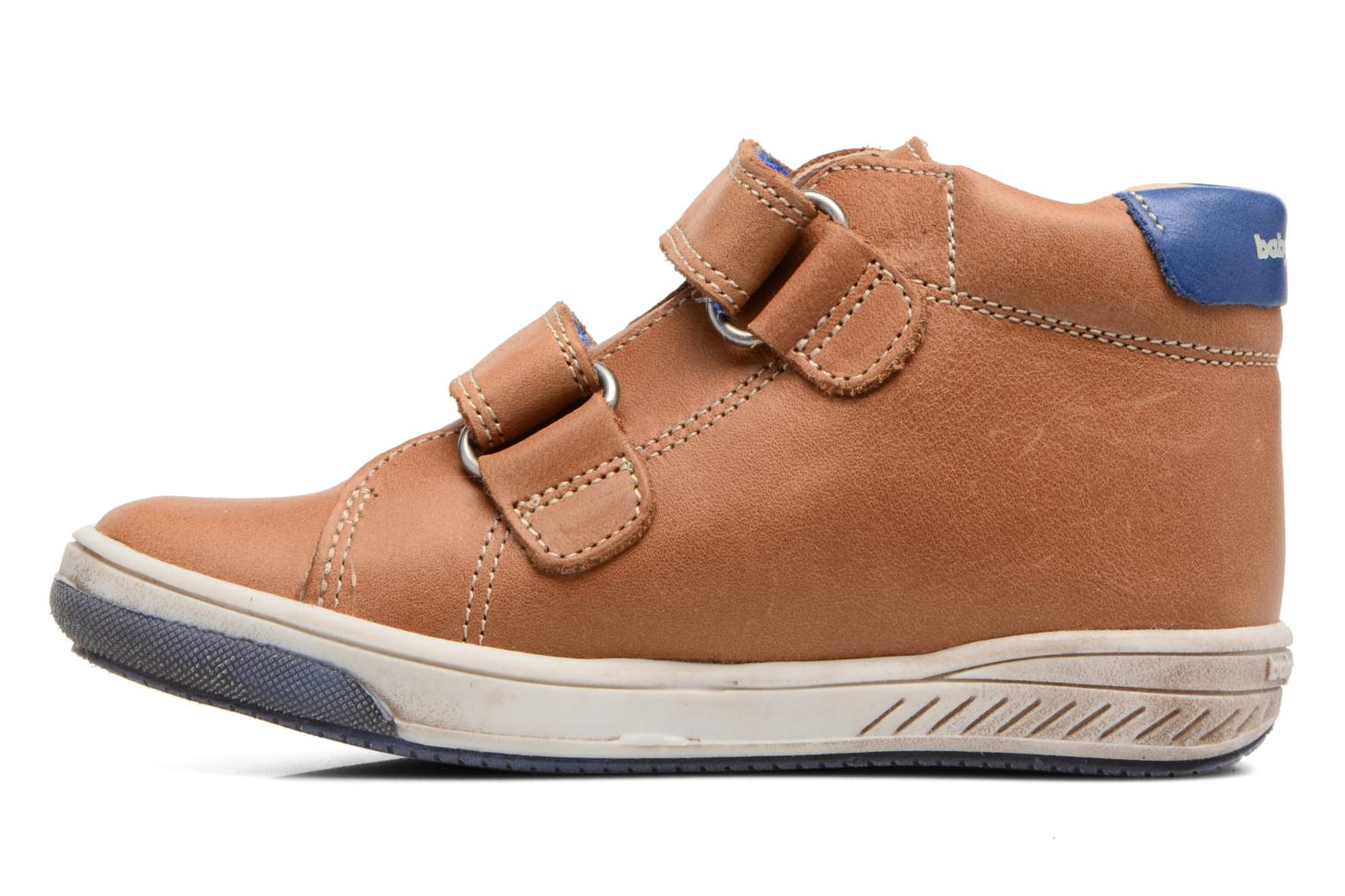 Velcro shoes Babybotte Antilles Brown front view