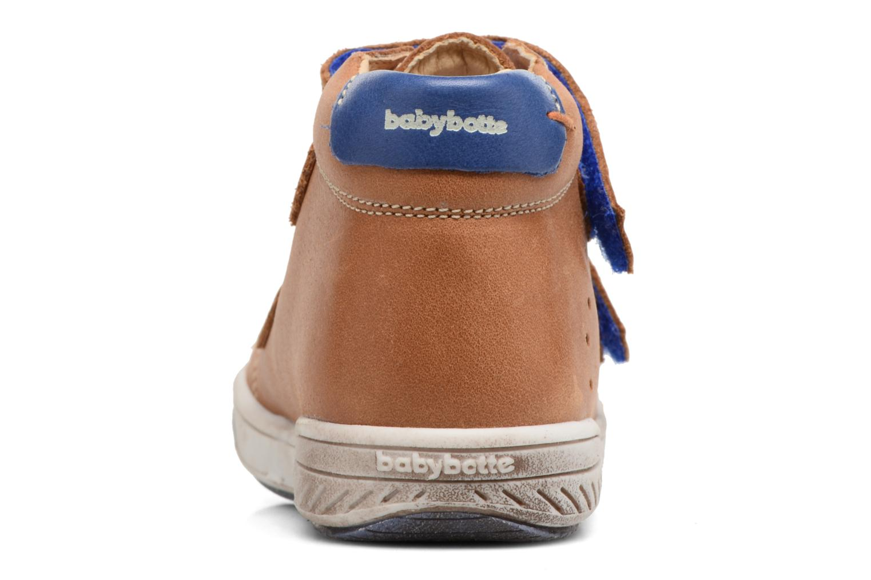 Chaussures à scratch Babybotte Antilles Marron vue droite