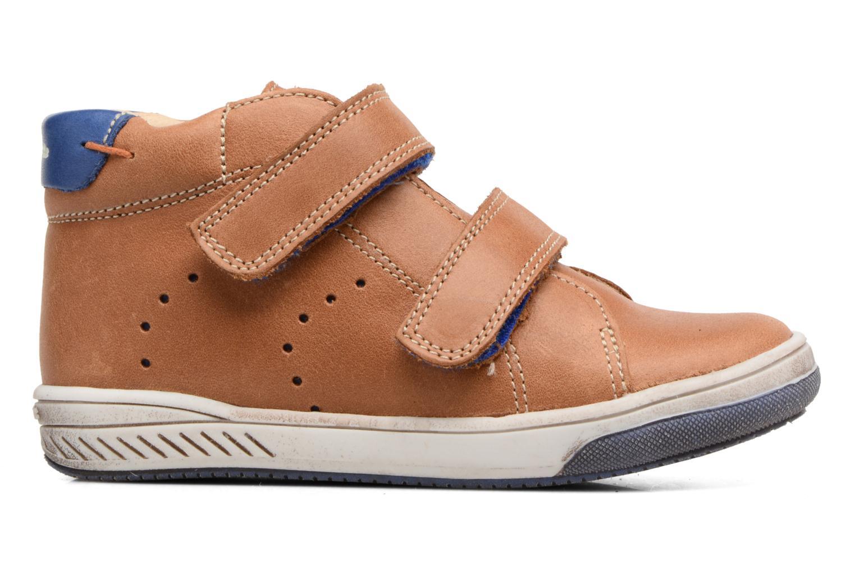 Velcro shoes Babybotte Antilles Brown back view