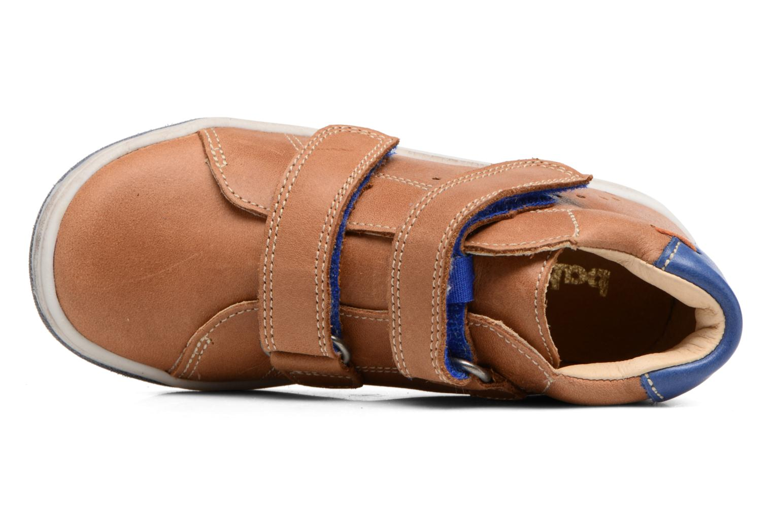Velcro shoes Babybotte Antilles Brown view from the left