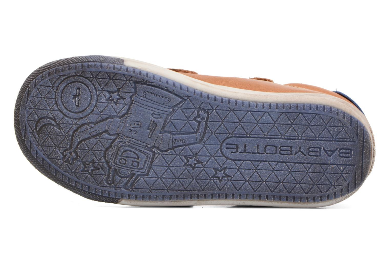 Chaussures à scratch Babybotte Antilles Marron vue haut