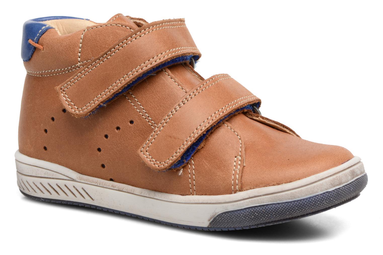 Chaussures à scratch Babybotte Antilles Marron vue détail/paire