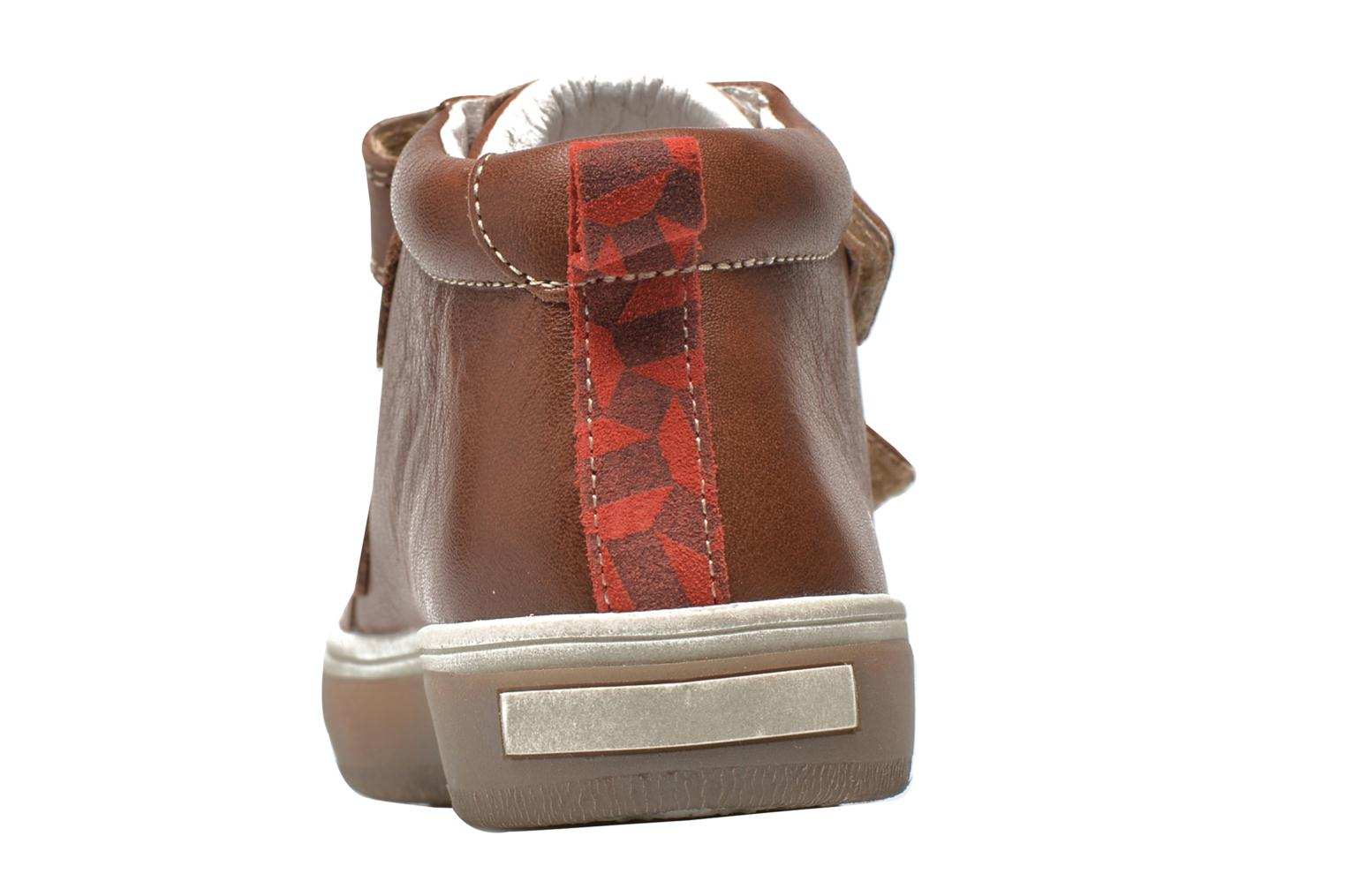 Velcro shoes Babybotte Kadreur Brown view from the right
