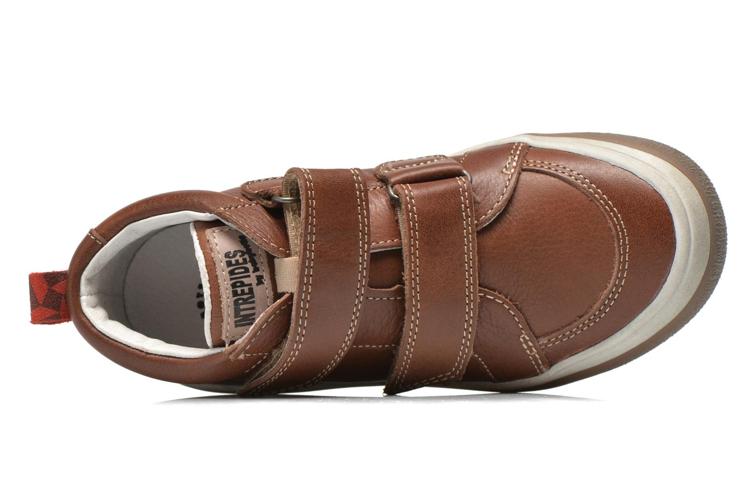 Velcro shoes Babybotte Kadreur Brown view from the left