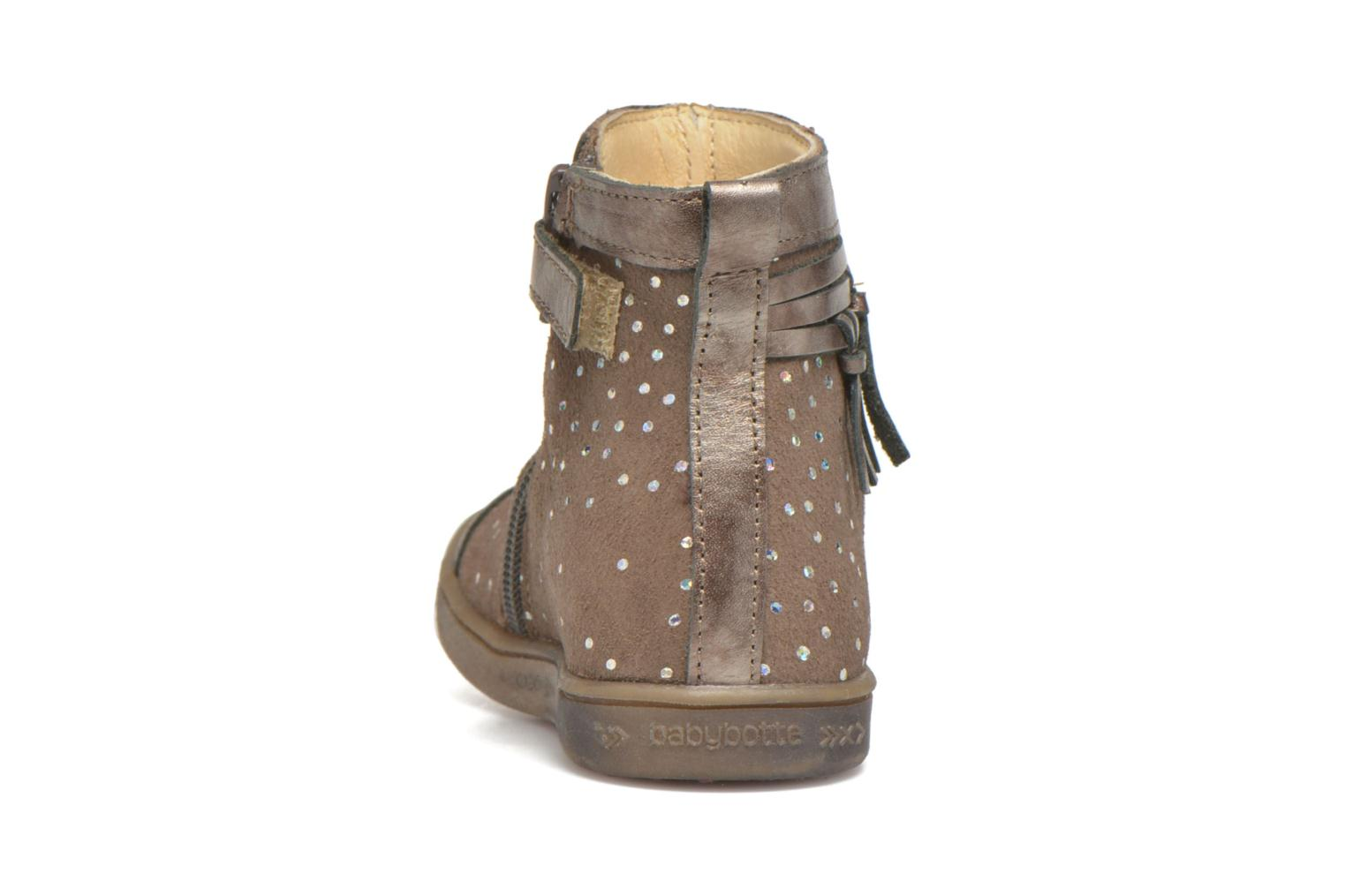 Ankle boots Babybotte Ambalaba Beige view from the right