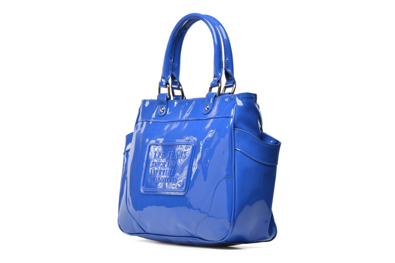 Handbags Les P'tites Bombes Sac Vernis Blue model view