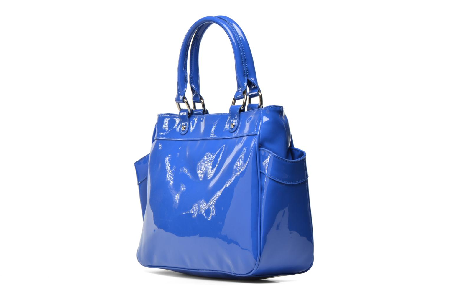 Handbags Les P'tites Bombes Sac Vernis Blue view from the right