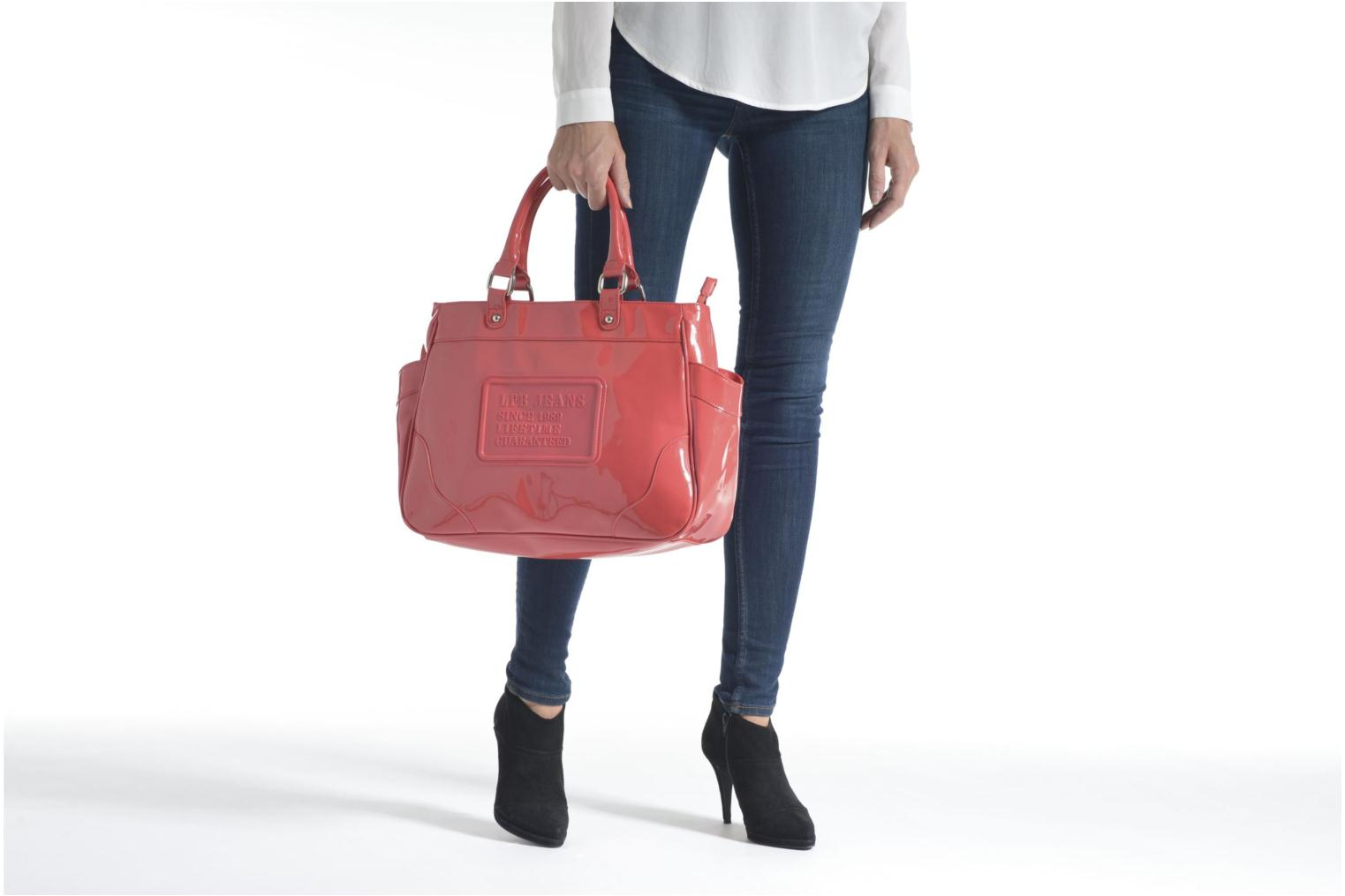 Handbags Les P'tites Bombes Sac Vernis Blue view from above