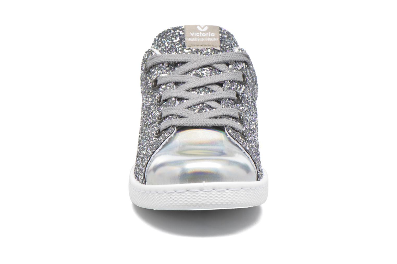 Baskets Victoria Deportivo Basket Glitter Argent vue portées chaussures