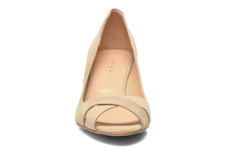 Escarpins Jonak Diplex Beige vue portées chaussures